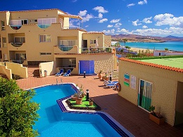Holiday apartment in Costa Calma on Fuerteventura with pool.