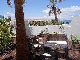 Holiday apartment in Costa Calma on Fuerteventura with private garden.